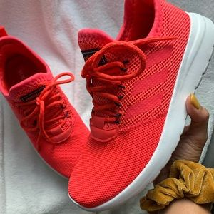 Adidas | bright orange red running sneakers shoes
